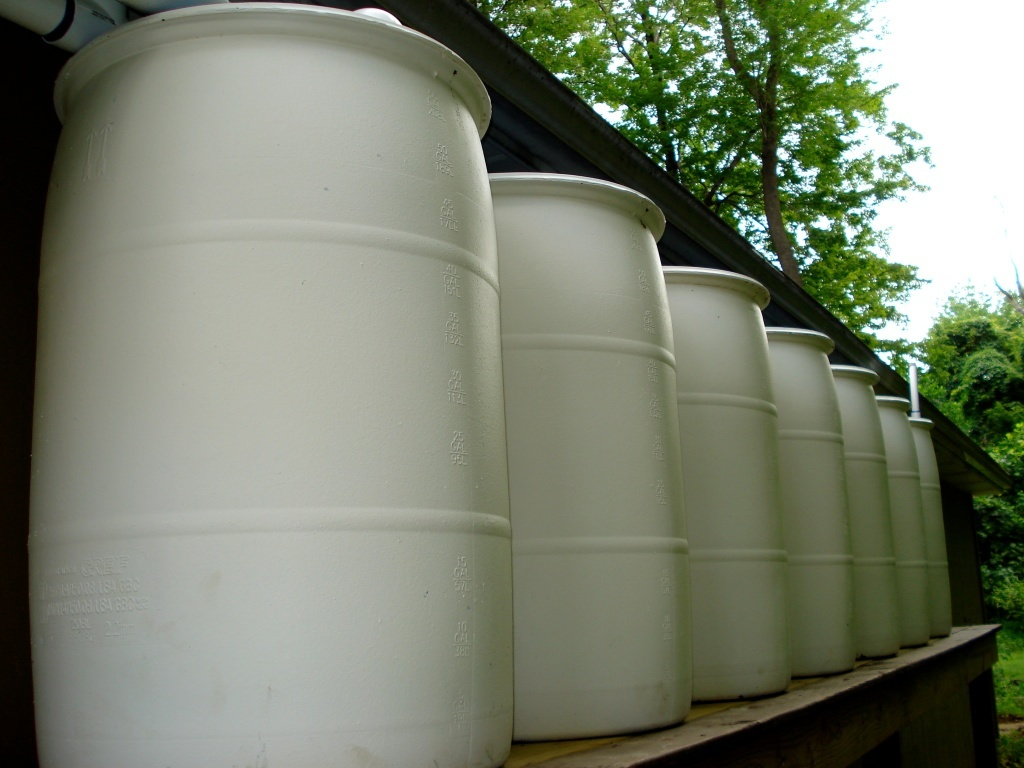 Rain barrels are used by many L.A. residents to catch rain at their homes.
