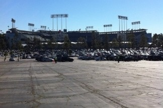 Opening day outside Dodgers Stadium, March 31, 2011.
