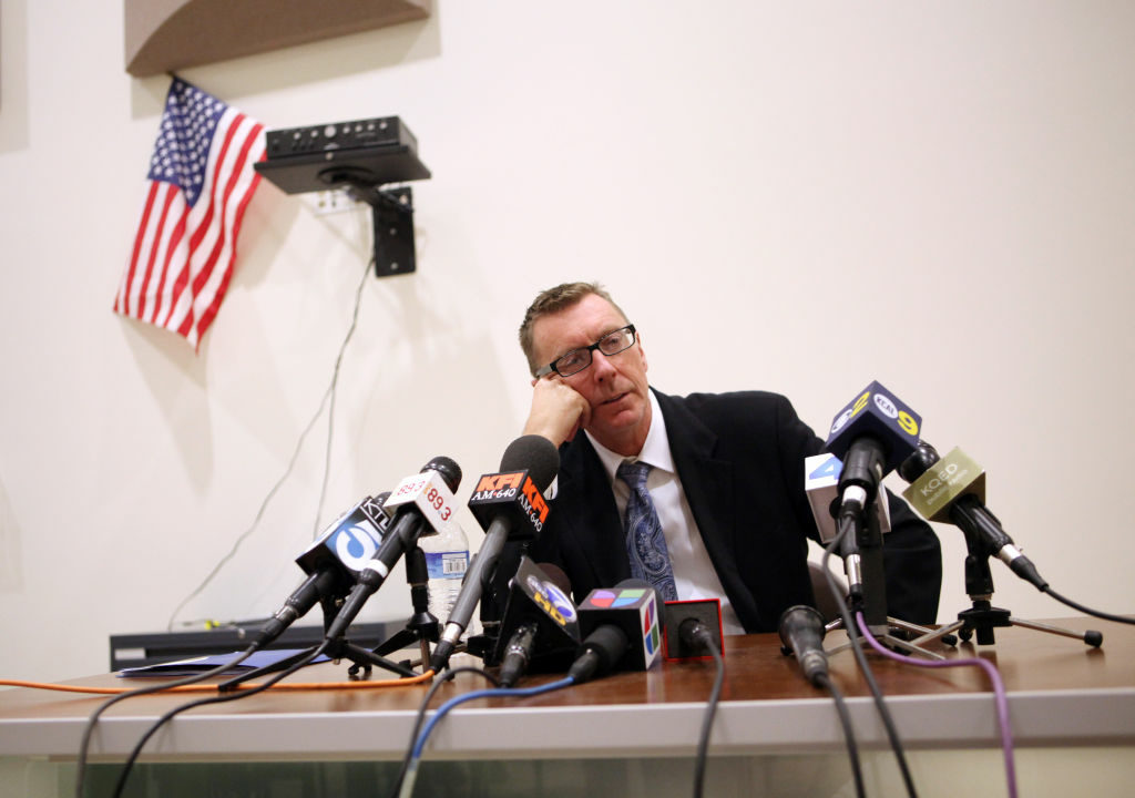 Los Angeles schools Supt. John Deasy  speaks during a press conference at South Region High School #2 in Los Angeles, California.