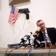 File: Los Angeles schools Supt. John Deasy  speaks during a press conference at South Region High School #2 in Los Angeles on Feb. 6, 2012.