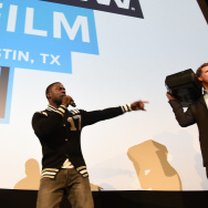 "Actor Kevin Hart (L) and actor Will Ferrell speak onstage at the premiere of ""Get Hard"" during the 2015 SXSW Music, FIlm + Interactive Festival at the Paramount Theatre on March 16, 2015 in Austin, Texas."