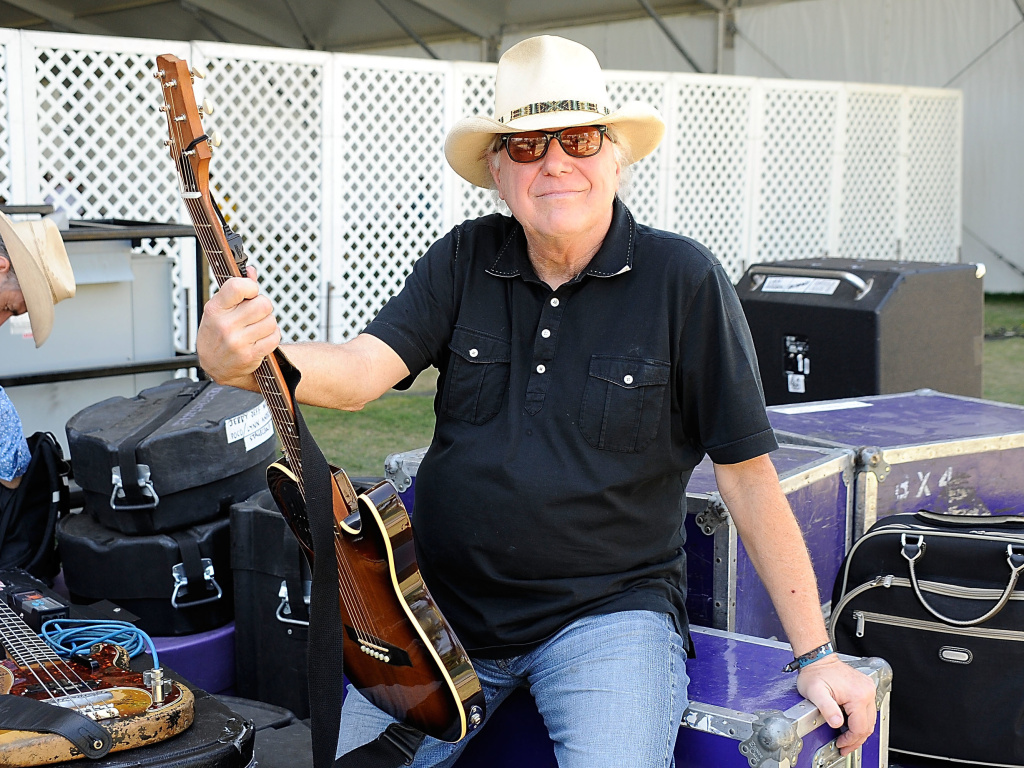 Country legend Jerry Jeff Walker poses backstage at a country music festival in 2009. Walker, best known for his hit