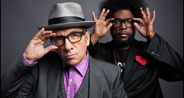 Elvis Costello and Questlove of The Roots.