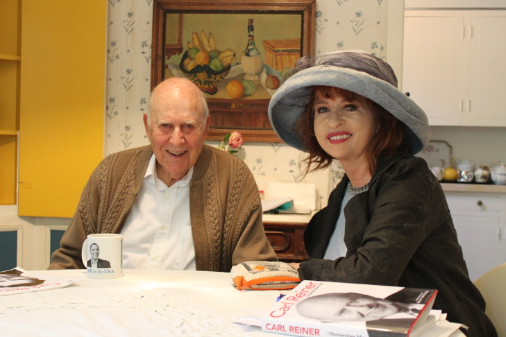 Carl Reiner and Patt Morrison