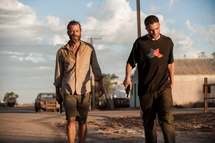 Guy Pearce and Robert Pattinson in