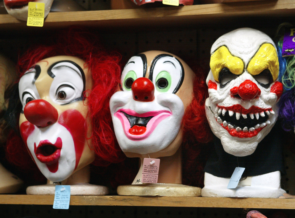 In 2009, clowns were the 4th most popular Halloween costume, while in 2013 the costume dropped to the 11th most popular.