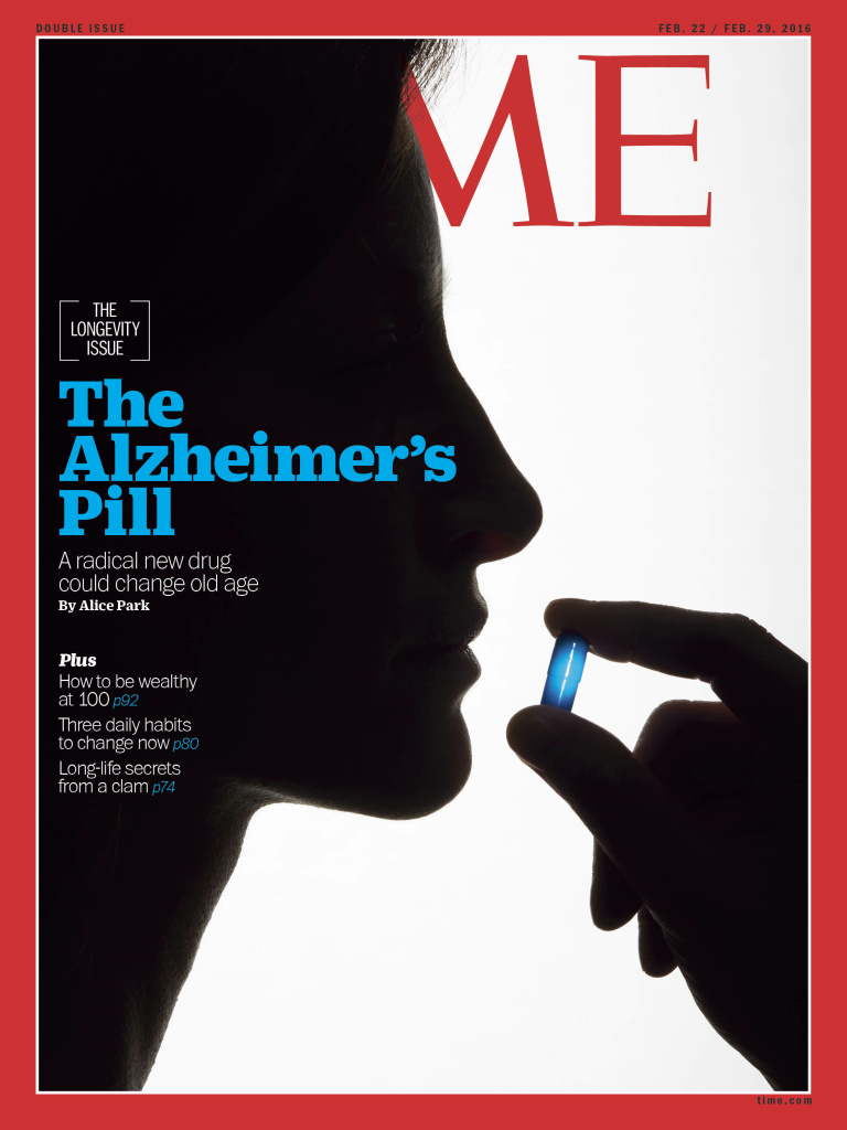 Time Magazine cover story about Alzheimer's pill