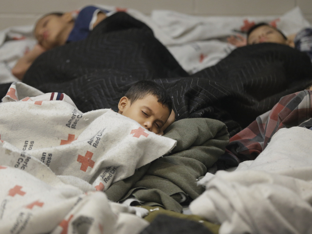 Child detainees in a holding cell at a Border Patrol facility in Brownsville, Texas.