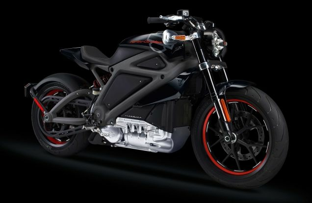 Promotional image of Harley-Davidson's first electric motorcycle, Project Livewire.