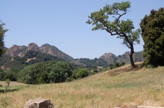 The red peaks at Malibu State Park