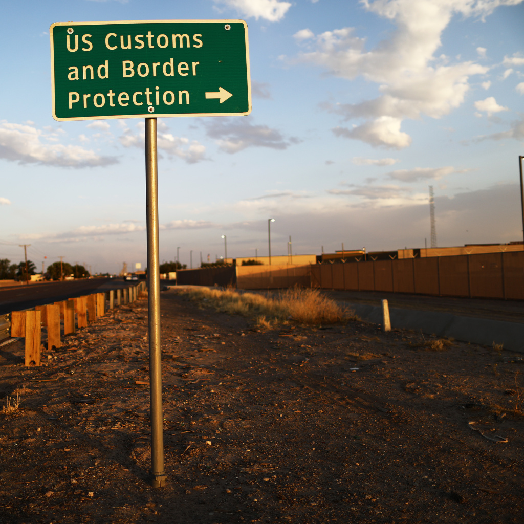 A sign is posted outside the U.S. Border Patrol station in Clint, Texas, earlier this week, where lawyers reported that detained migrant children were held unbathed and hungry.