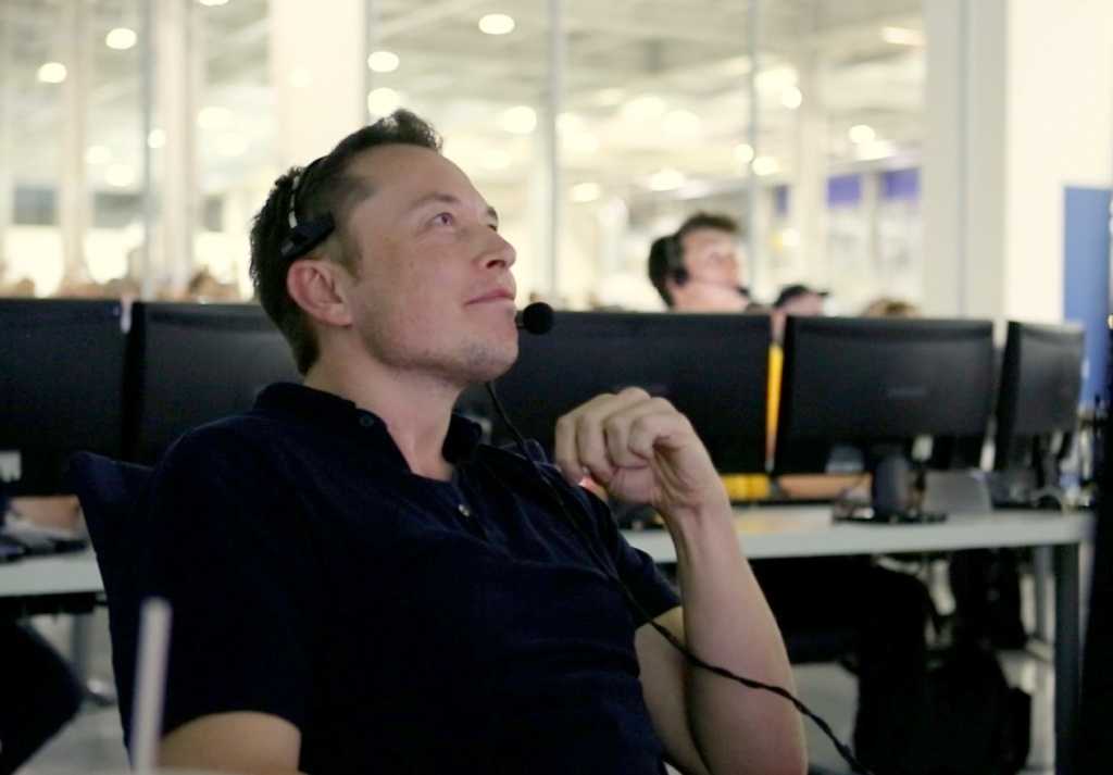 SpaceX CEO and Chief Designer Elon Musk watches Dragon's progress inside of SpaceX Mission Control in Hawthorne last May. Rocketdyne is firing, but he could be hiring.
