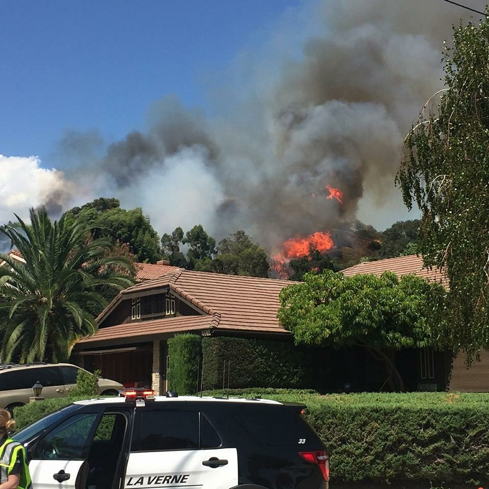 Here is what people nearby the La Verne brush fire are seeing