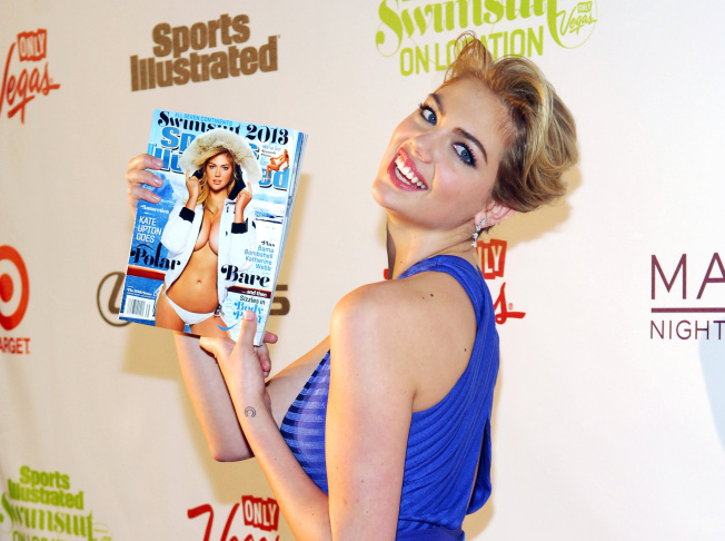 Sports Illustrated Swimsuit Issue cover model Kate Upton and SI swimsuit model Nina Agdal attend SI Swimsuit On Location hosted by Haze Nightclub at the Aria Resort & Casino at CityCenter on February 15, 2012 in Las Vegas, Nevada.