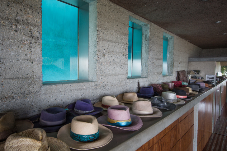James Goldstein bought the John Lautner designed home in 1972 when the residence was in some state of disrepair. He commissioned Lautner to renovate and contue designing the home.