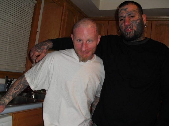 Kevin Jason Cloyd, left, poses with a friend in an undated photo.
