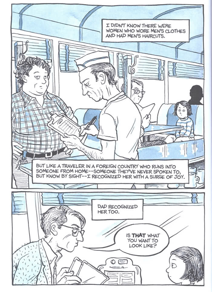A page from Alison Bechdel's graphic novel memoir,