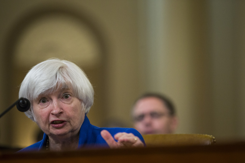Federal Reserve Chair Janet Yellen testifies during a Joint Economic Committee on Economy Hearing on Capitol Hill November 29, 2017 in Washington, DC.