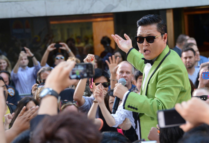 South Korean rapper Psy performs on NBC's