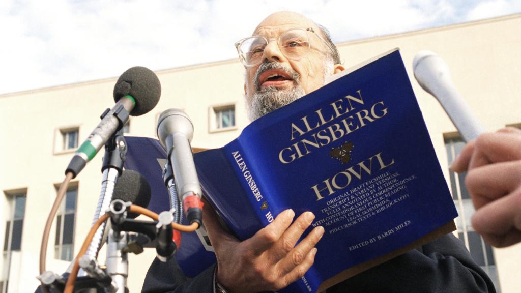 Poet Allen Ginsberg reads his poem