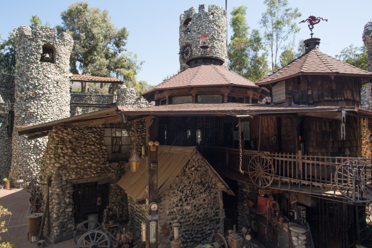 The Rubel Castle is constructed out of concrete, scrap steel, rocks and other items that Michael Rubel collected.