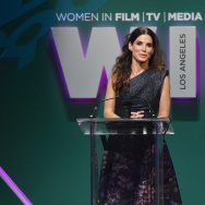 Actress Sandra Bullock speaks onstage during the Women In Film 2015 Crystal + Lucy Awards on June 16, 2015 in Century City, California.