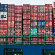 In this file photo, a cargo ship waits to be unloaded at The Port of Los Angeles.