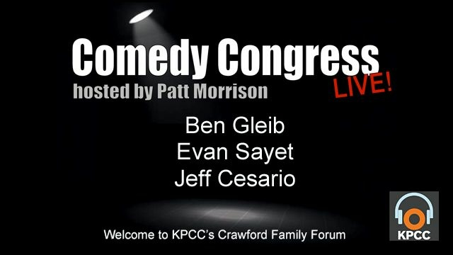 Election season might be over, but that doesn't mean Comedy Congress is too. From the Petraeus love pentagon to fiscal cliff worries, join Patt Morrison and her guests to laugh at the madness of it all.