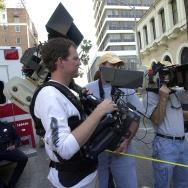 Cameramen (L-R, holding cameras): Ron Baldwin and