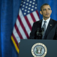 President Obama Gives An Economic Address At Kansas High School