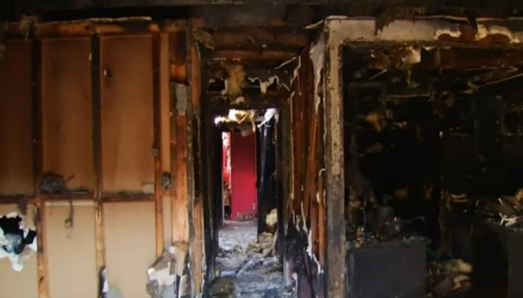 Inside the condo that went up in flames early Tuesday morning in San Juan Capistrano. A 20-year-old mother died Wednesday night following the death of her 3-year-old son after a fire broke out at their condo in San Juan Capistrano.