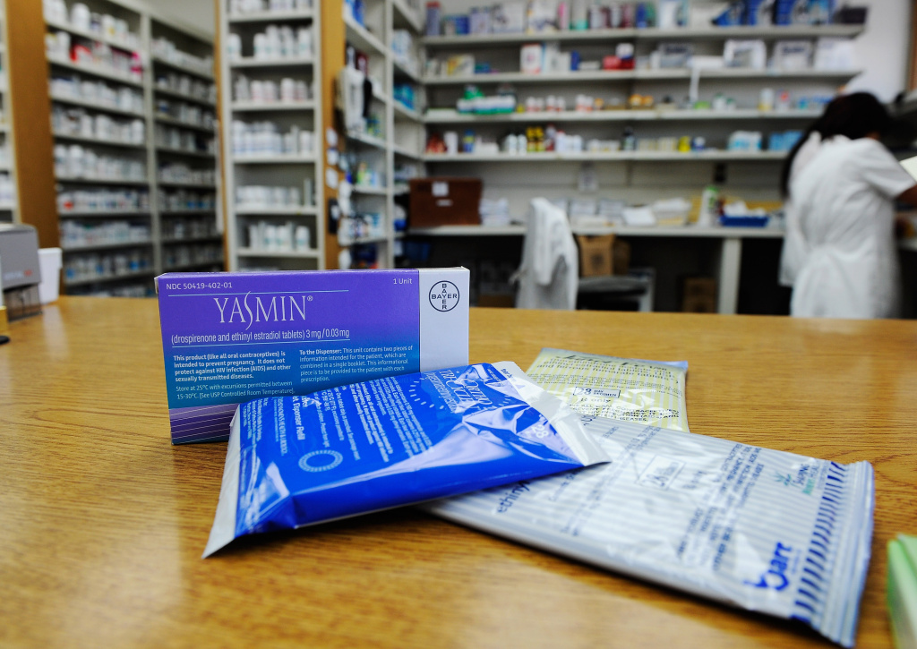 Prescription contraceptives for women sit on the counter of a drug store on August 1, 2011 in Los Angeles, California.