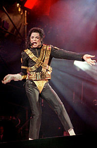 TAIPEI, TAIWAN - SEPTEMBER 4: U.S. singer Michael Jackson opens his first concert in Taipei 04 September 1993 with his popular 'Jam,' to an audience of 36,000 fans. At least 25 people passed out during the performance.