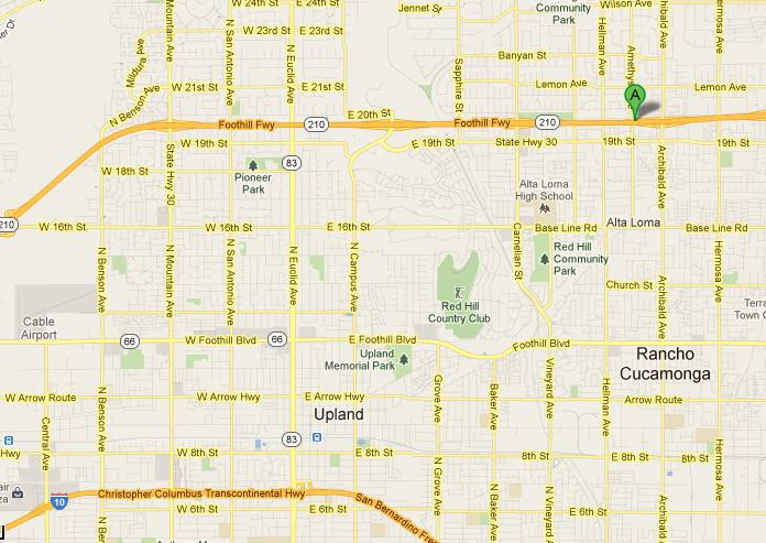 map of 210 freeway