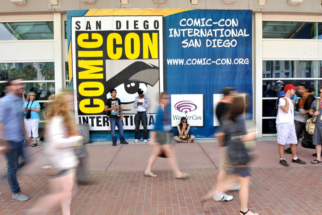 San Diego prepares for 2012 Comic-Con at the San Diego Convention Center on July 11, 2012 in San Diego, California.