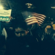 Demonstrators outside the White House following President Obama's announcement of executive action last November. The Obama administration is seeking a stay in court that would let its immigration plan move forward, pending its appeal of a ruling that has put the plan on hold. Immigrants seeking temporary legal status were to have begun applying for relief last week.