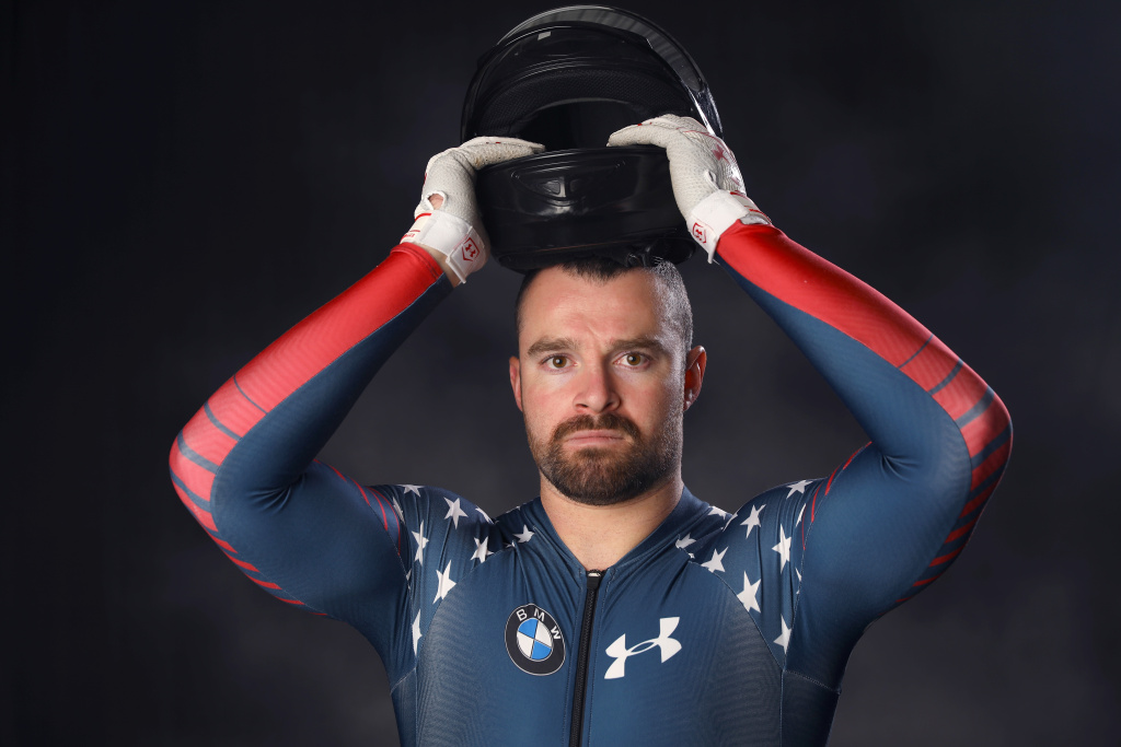 Bobsledder Carlo Valdes poses for a portrait ahead of the PyeongChang 2018 Olympic Winter Games on September 26, 2017 in Park City, Utah.