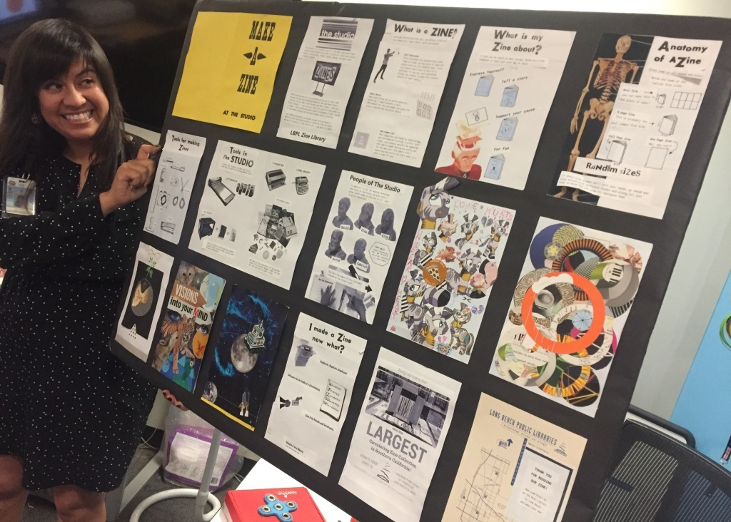 Main Library in Long Beach hosts zine workshops in the makers space.