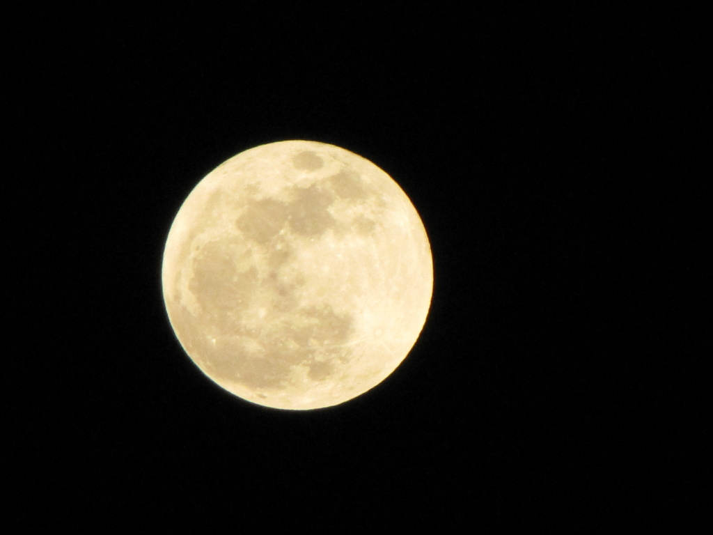 The super moon as viewed from Trabuco Canyon around 9 p.m. Saturday night.