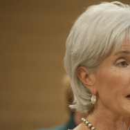 Health and Human Services Secretary Kathleen Sebelius speaks Thursday in Phoenix.