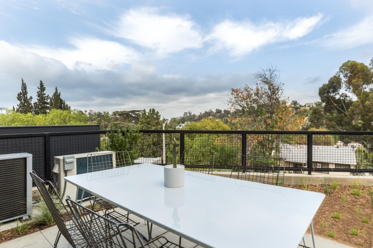 The view from the deck of one of the homes in the Blackbirds housing development in Echo Park.