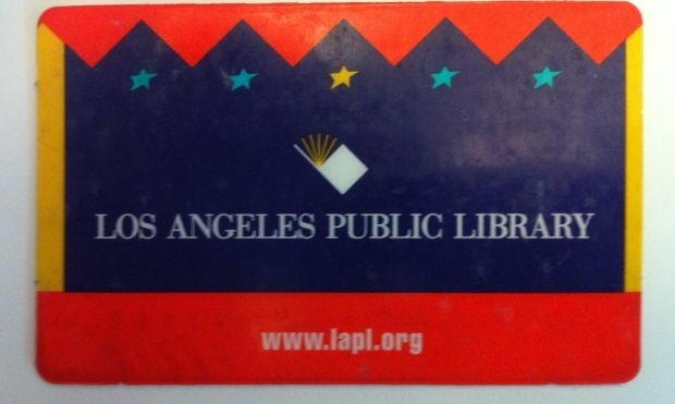 A current City of Los Angeles library card.