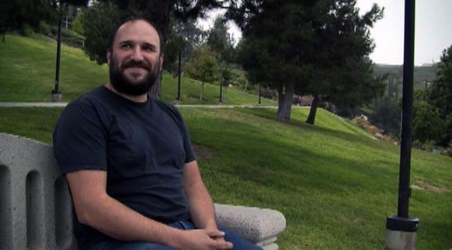 David Bazan in an Aliso Viejo park.