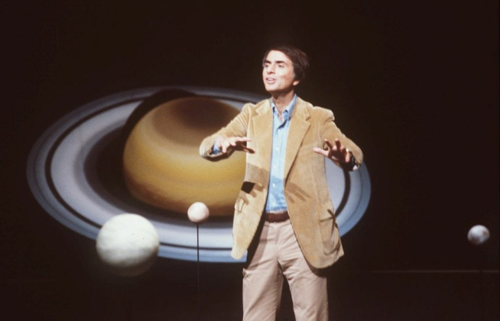 Astronomer Carl Sagan, shown in this 1981 file photo, a gifted storyteller who extolled and explored the grandeur and mystery of the universe in lectures, books and an acclaimed TV series, died Dec. 20, 1996 at age 62 after a two-year battle with bone marrow disease.