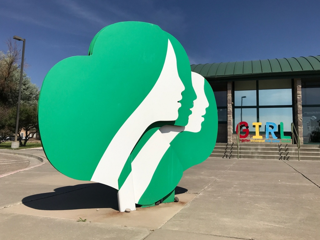This June 7, 2021, image shows the headquarters of Girl Scouts of New Mexico Trails in Albuquerque, New Mexico. The pandemic has left the Girl Scouts with an unusual problem this year: millions of unsold cookies.