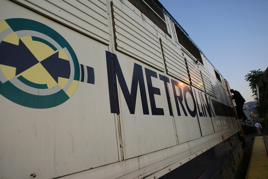 File photo: A conductor steps down from the engine of a Metrolink train on Sept. 15, 2008.