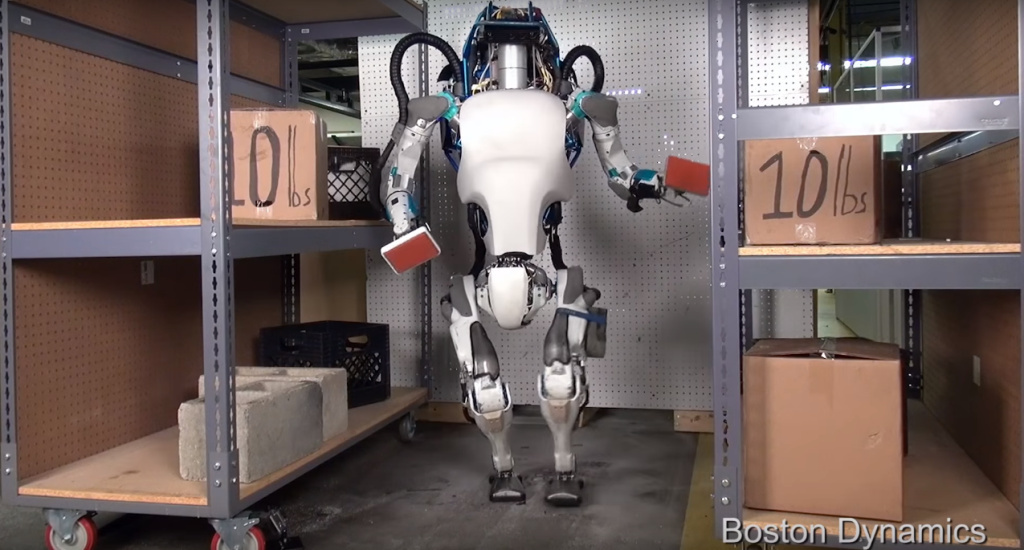 Screenshot from Boston Dynamics video 'Atlas, The Next Generation'
