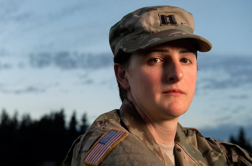 Capt. Jennifer Peace discusses some of her experiences as a transgender JBLM soldier and the growing shift to a more inclusive military. Video by Drew Perine.