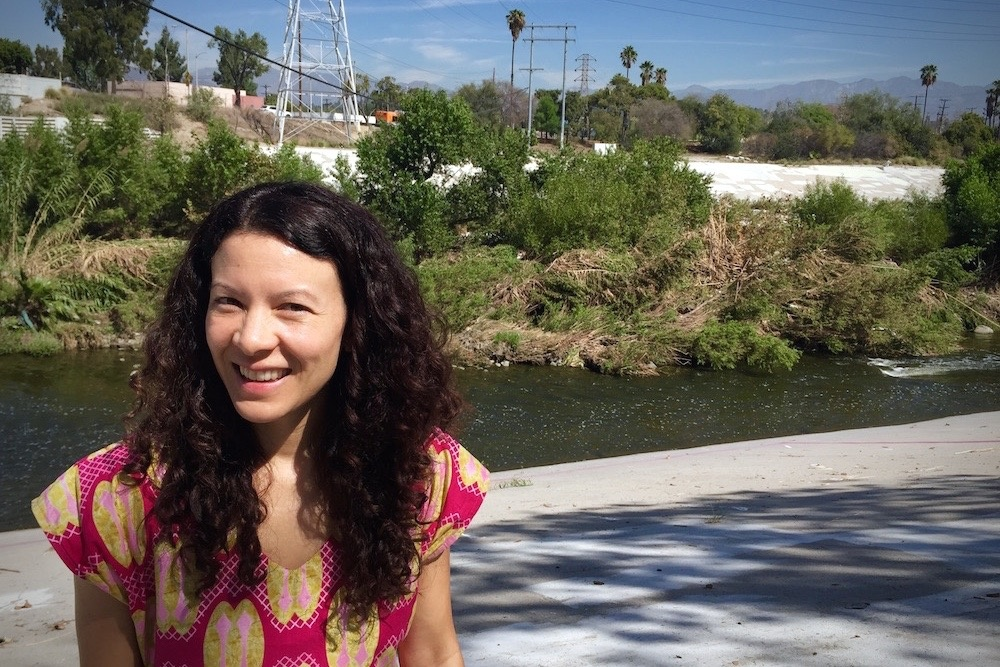 Singer/songwriter Mia Doi Todd by the Los Angeles River