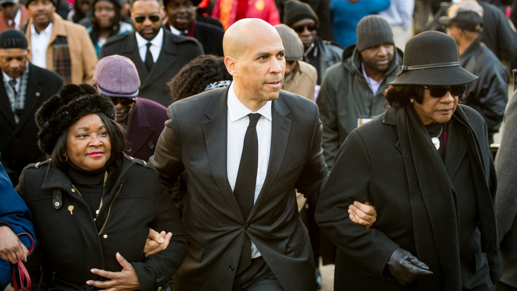 Sen. Cory Booker, D-N.J., attends the annual Martin Luther King Jr. Day at the Dome event on Jan. 21 in Columbia, S.C. Booker and many other Democratic presidential hopefuls have made visits to the state in the early weeks of the 2020 campaign.